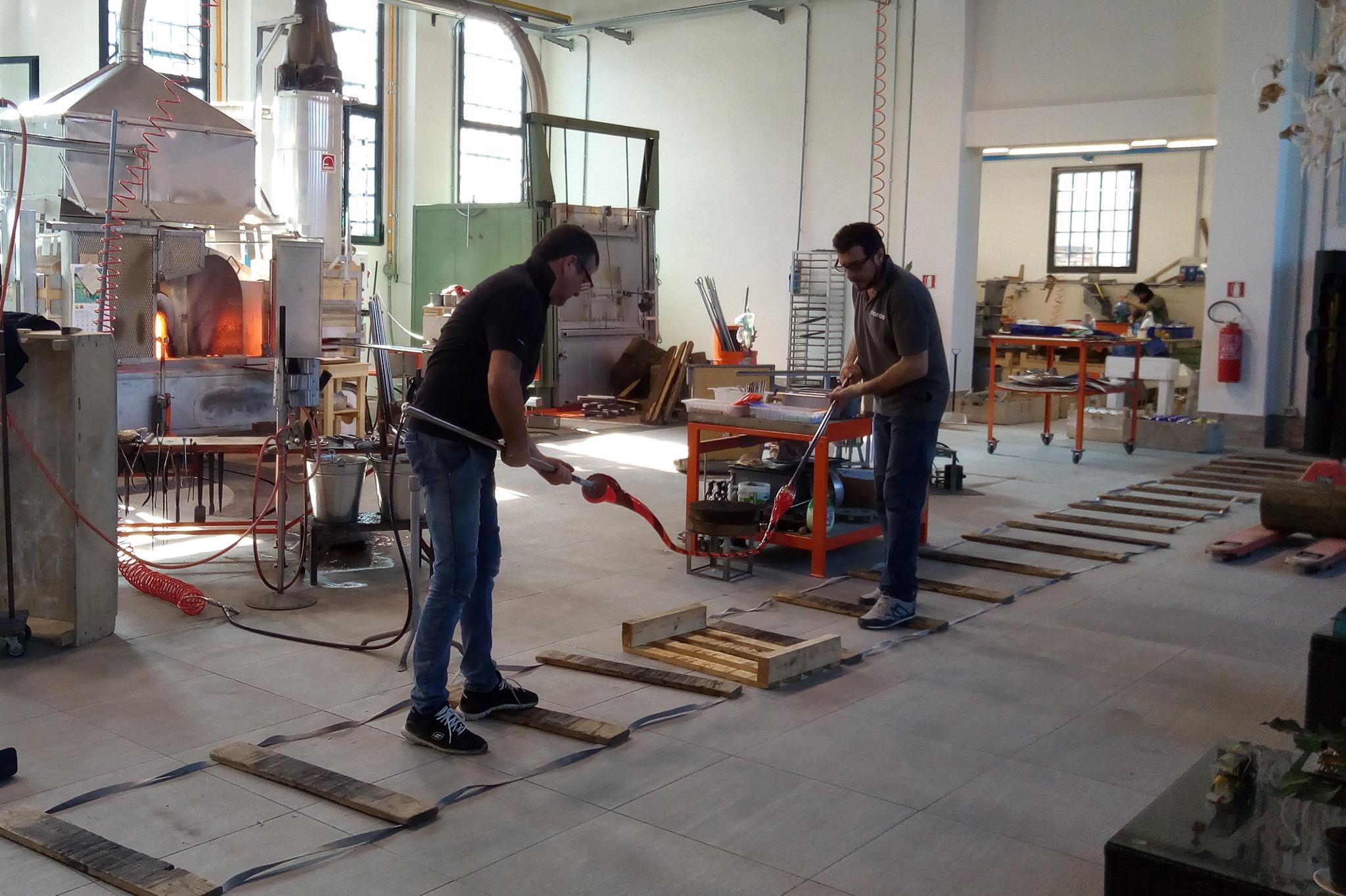 murano glass manufactering masters