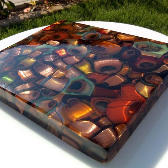 Handmade glass melting